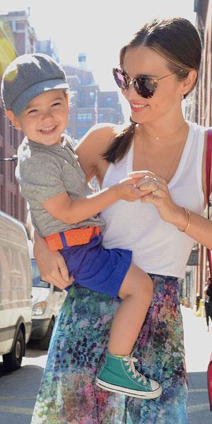 Miranda Kerr and son Flynn Bloom, 8 July 2013