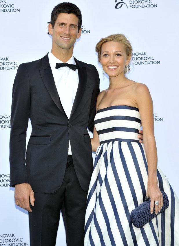 Jelena Ristic and Novak Djokovic, Novak Djokovic Foundation - London gala dinner held at the Roundhouse, 8 July 2013