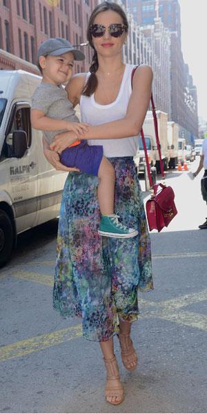 Miranda Kerr with son Flynn in NYC
