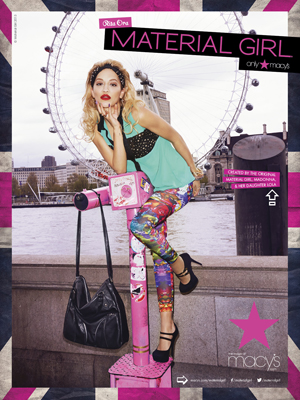 Rita Ora MATERIAL GIRL AND RITA ORA HIT LONDON Material Girl Marketing Campaign Takes To The Streets Of London For The Fall Collection Available Exclusively at Macy's