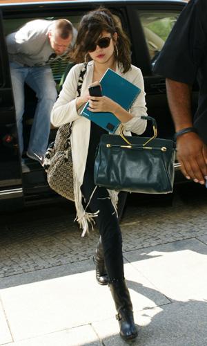 Selena Gomez arriving at Hotel Grand Hyatt Berlin, Germany
