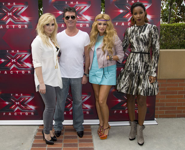 X Factor LA auditions Demi Lovato, Simon Cowell, Paulina Rubio, Kelly Rowland - 11 July 2013