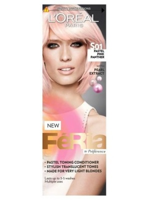 L'Oreal Feria Pastel Toning Conditioner in Pastel Pink Panther