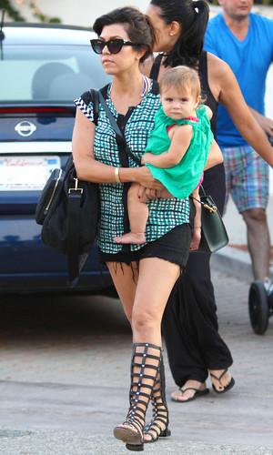Kourtney Kardashian and Penelope Disick 14 Jul 2013