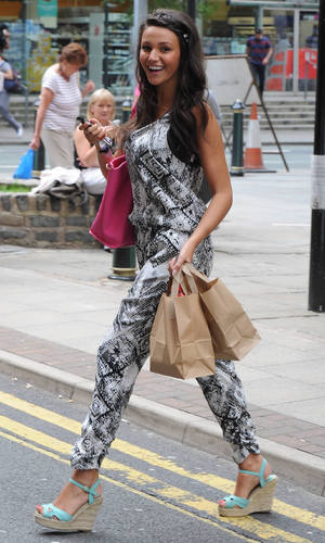 Michelle Keegan and Chris Fountain grab some lunch during a break from filming Coronation Street - 18 July 2013