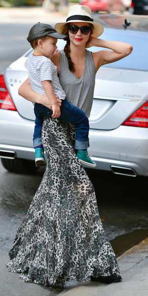 Miranda Kerr and son out and about, New York, America - 18 Jun 2013