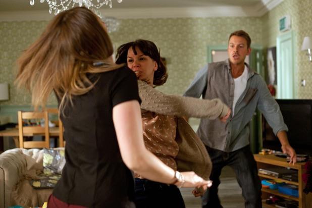 Hollyoaks, Nancy punches Sienna, Tue 16 Jul