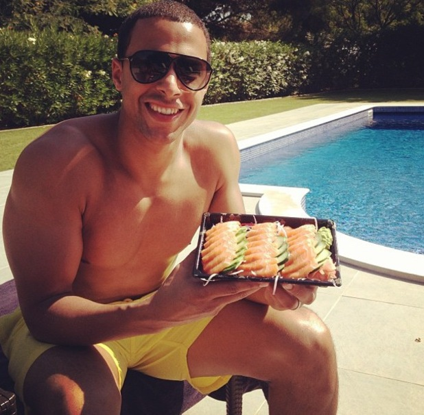 Marvin Humes on holiday in Portugal - July 2013