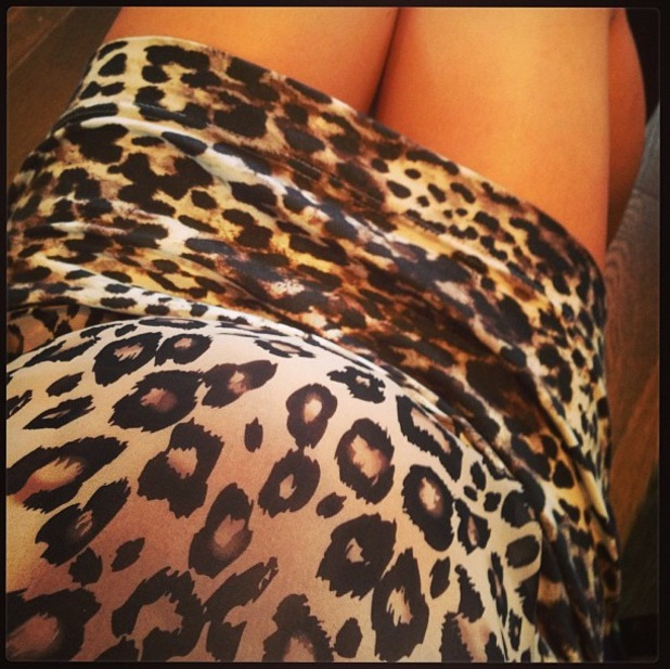 Pregnant Cherry Healey dresses her bump in leopard print - 16 July 2013