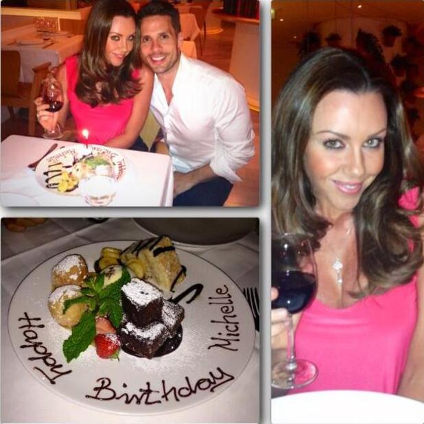 Michelle Heaton shares Twitter pictures on 34th birthday, July 19 2013