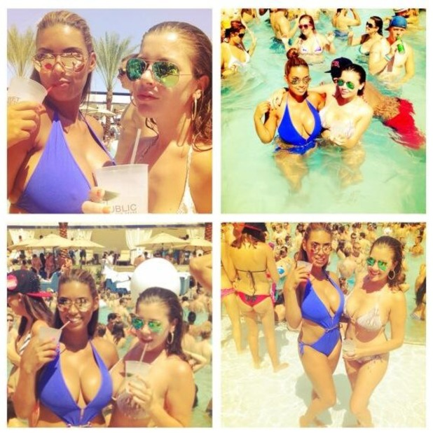 Imogen Thomas posts selfie from Vegas holiday, July 19 2013