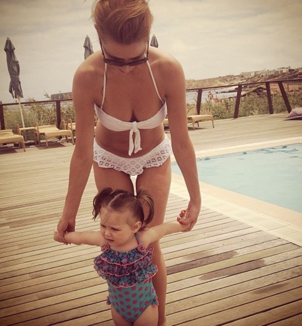 Una Healy and baby Aoife Belle on holiday in Portugal - July 2013