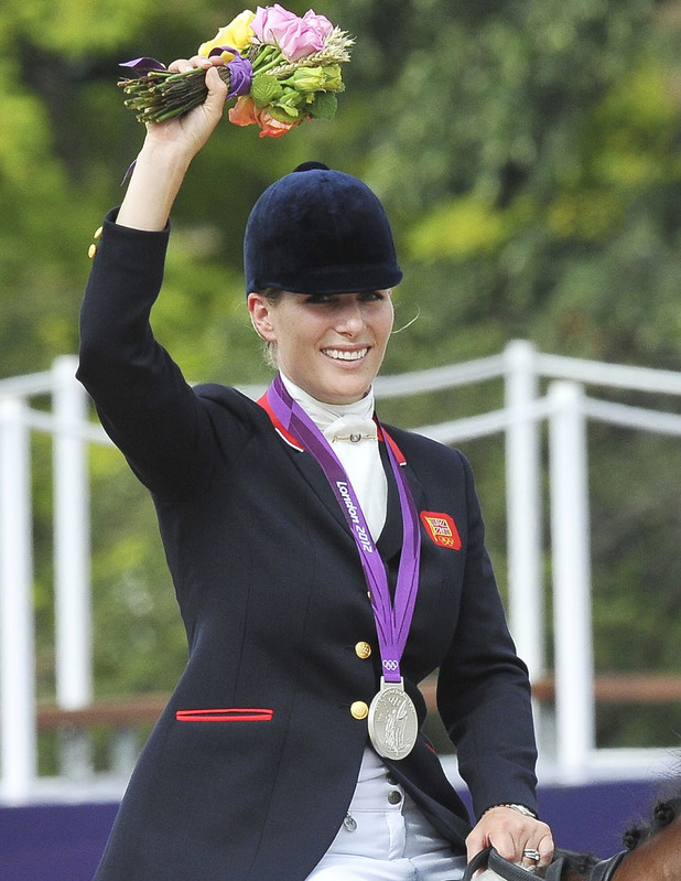Zara Phillips riding High Kingdom, won the silver medal in the team Equestrian of the Eventing competition during the 2012 London Olympics in Greenwich Park London, England - 31.07.12
