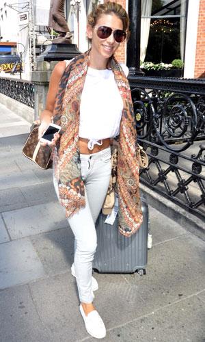 Model Georgia Salpa seen arriving at the Shelbourne Hotel, 16 July 2013