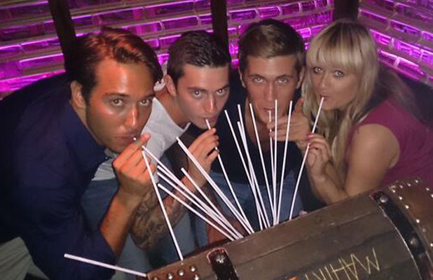 TOWIE's James Lock and Daniel Osborne at nightclub Mahiki
