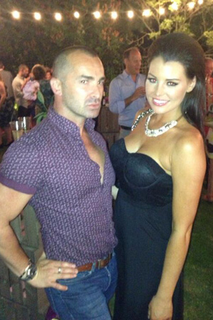 TOWIE's Jessica Wright with Louie Spence at ITV party