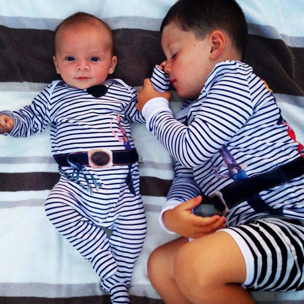 Coleen Rooney's sons Kai and Klay are dressed as pirates in Twitter picture, 15 July 2013