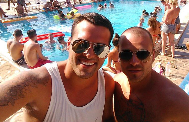 TOWIE's Ricky Rayment holidaying in Zante