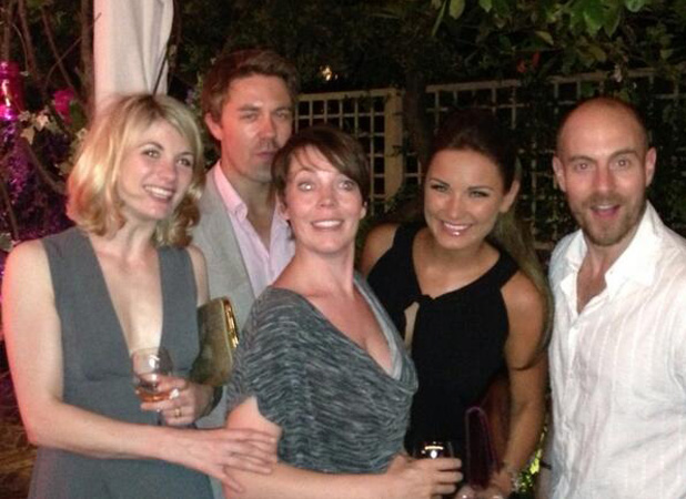 TOWIE's Sam Faiers at ITV party with the cast of Broadchurch including Olivia Colman