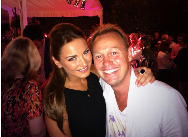 TOWIE's Sam Faiers at ITV party with Jason Donovan