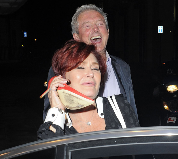 Celebrities at the Dorchester Hotel, London, Britain - 17 Jul 2013 Sharon Osbourne and Louis Walsh 17 Jul 2013