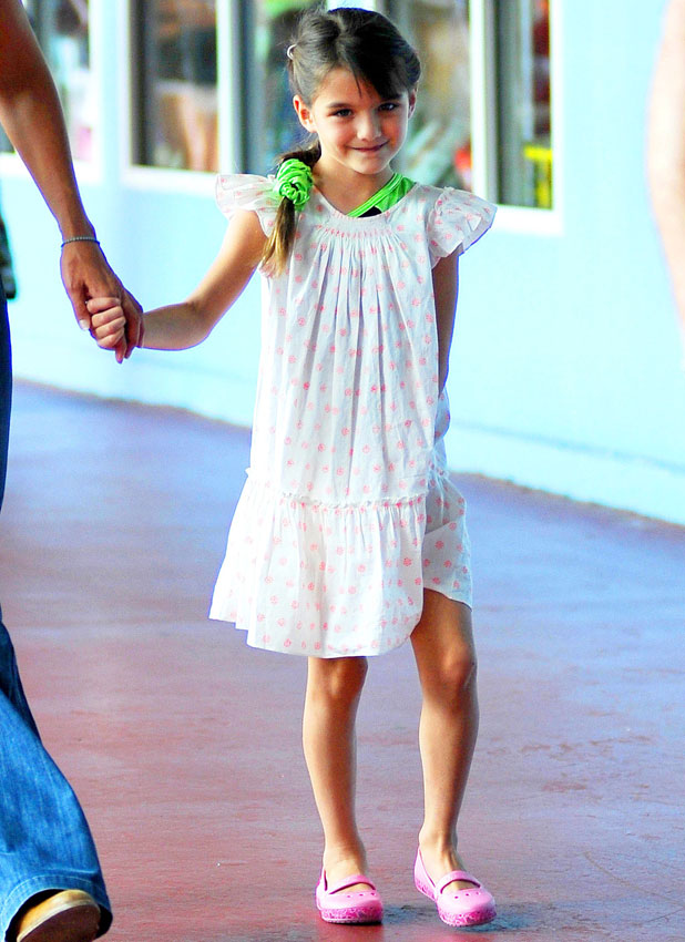 Katie Holmes and Suri Cruise out and about in New York, America - 15 Jul 2013