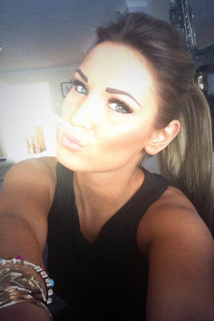 """TOWIE""""s Sam Faiers shows off tattooed eyebrows"""