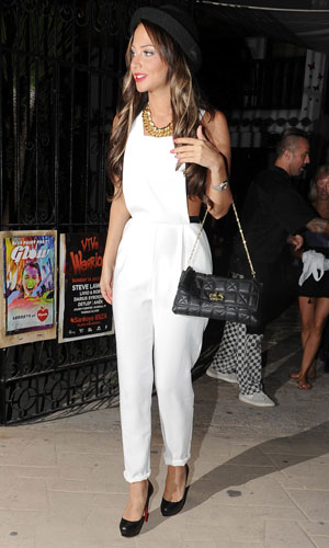 Tulisa Contostavlos enjoys a night out clubbing with friends in Ibiza