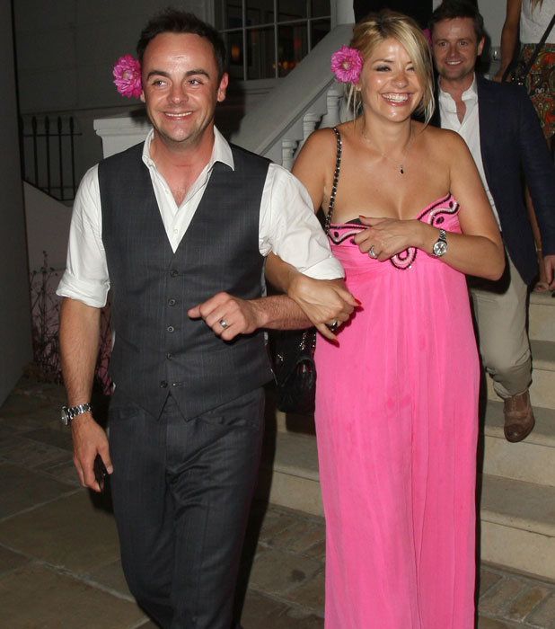 Holly Willoughby and Ant McPartlin and Dec Donnelly at ITV summer party, 17 July 2013