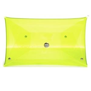 Klear Klutch yellow clutch bag