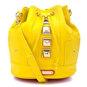 Anna Smith New York Yellow Duffle Bag