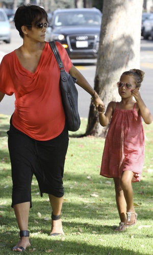 Halle Berry heads out with daughter Nahla - July 23 2013