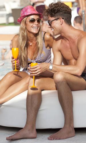 Joey Essex kisses mystery blonde at Ocean Beach Ibiza - 23 July 2013
