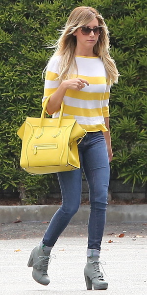 Ashley Tisdale seen out and about in Santa Monica