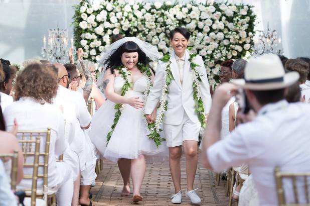Beth Ditto marries long time partner Kristin Ogata - 24 July 2013