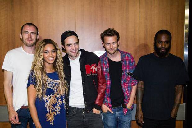Death Grips, Robert Pattinson and Beyoncé backstage at her concert in LA - July 2013
