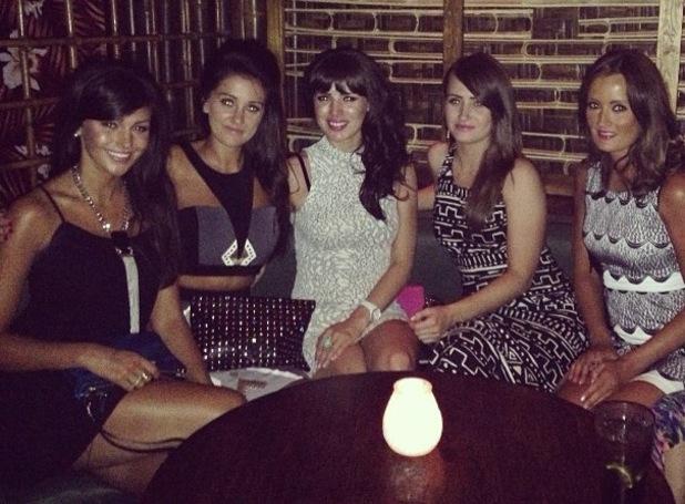 Michelle Keegan celebrates a friend's birthday - 22 July 2013