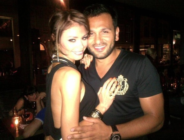 Chloe Sims and Joe Fournier pictured at The May Fair Hotel in London - 20 July 2013