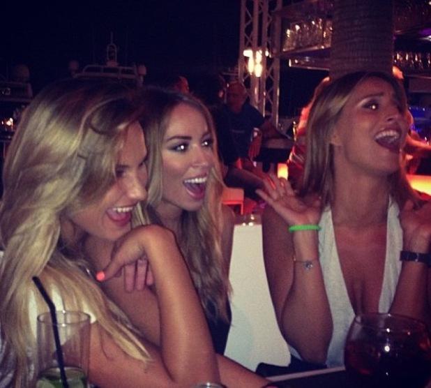 TOWIE's Sam Faiers, Ferne McCann, Lauren Pope in Ibiza - 25 July 2013