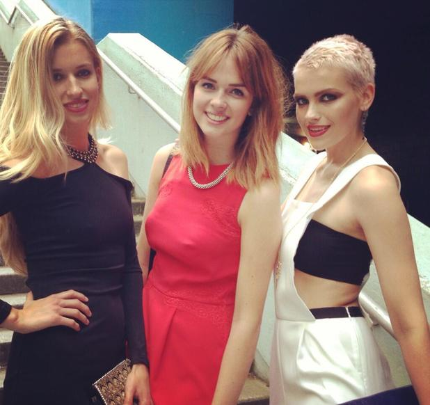 Britain & Ireland's Next Top Model 2013 - Emily Garner and fellow contestants, Sophie, Naomi