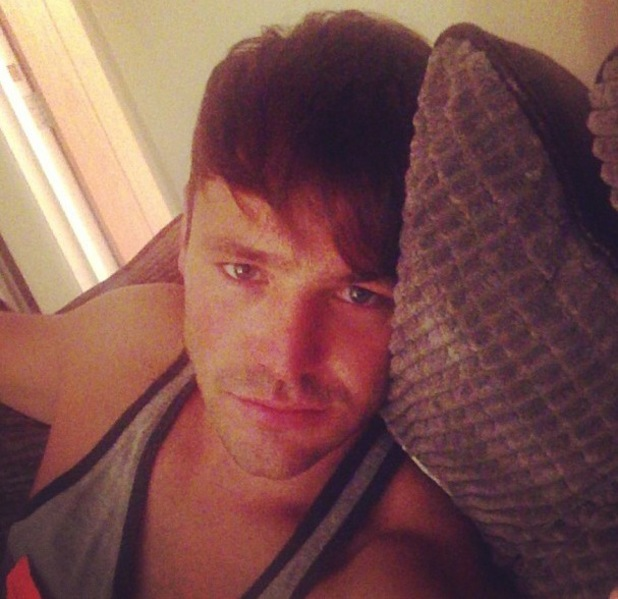 Mark Wright shows off his bed hair after returning to the UK from Australia - 25 July 2013