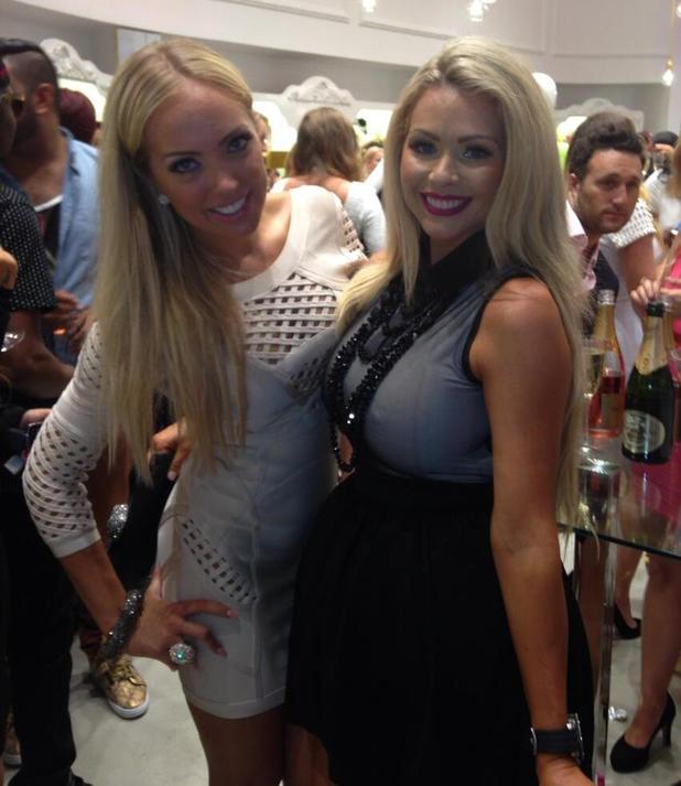 Nicola McLean and Aisleyne Horgan-Wallace at Celeb Boutique party - 26 July 2013