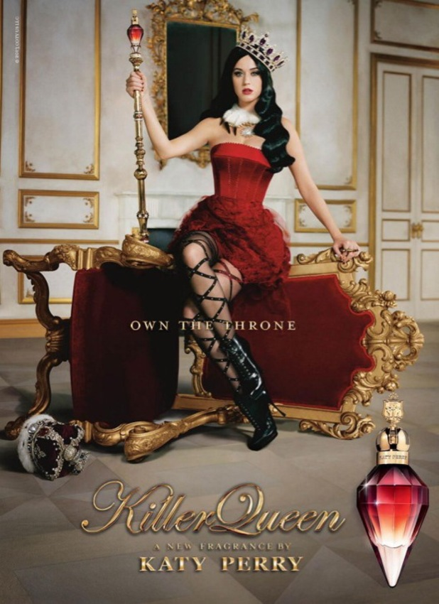 Katy Perry new promotional picture for Killer Queen fragrance