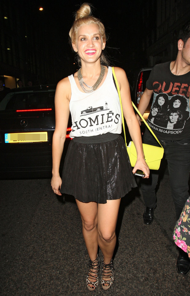 Ashley Roberts Celebrities at Mahiki including Jay McGuiness from the Wanted who was celebrating a 23rd birthday
