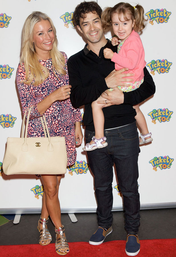 Denise Van Outen, Lee Mead and daughter Betsy Mead, 21 July 2013