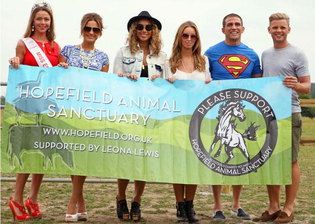 Sam Faiers, Leona Lewis, Lauren Pope, Alex Reid and Jeff Brazier, Hopefield, 21 July 2013
