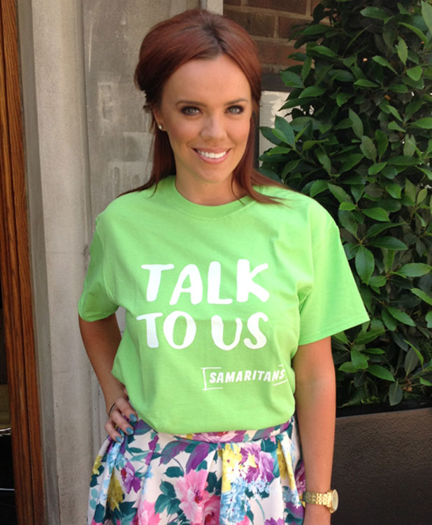 Maria Fowler is supporting The Samaritans, 22 July 2013