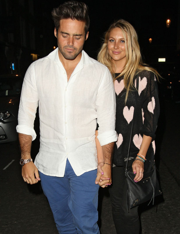 Made in Chelsea cast members eating at E&O in Notting Hill - Stephanie Pratt and Spencer Matthews, 24 July 2013