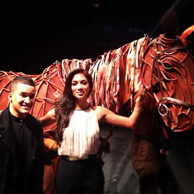 Nicole Scherzinger with Jahmene Douglas after watching 'Warhorse'