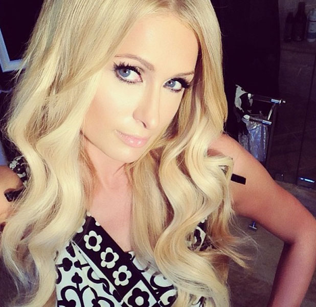 Paris Hilton in a Twitter selfie, July 2013
